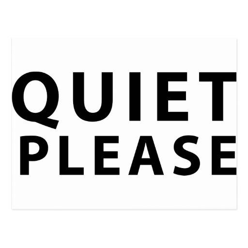 Quiet Please Postcard