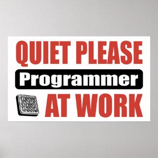 Quiet Please Programmer At Work Poster