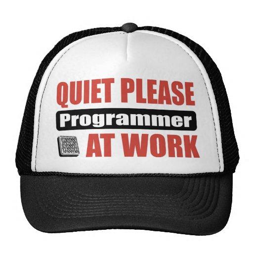 Quiet Please Programmer At Work Trucker Hat