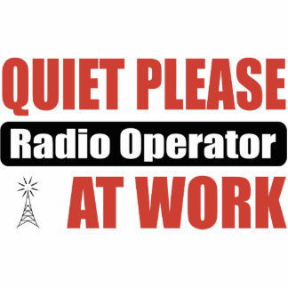Quiet Please Radio Operator At Work Photo Cut Outs