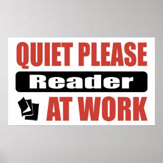 Quiet Please Reader At Work Print