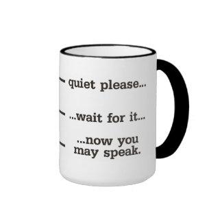 Quiet Please Ringer Coffee Mug