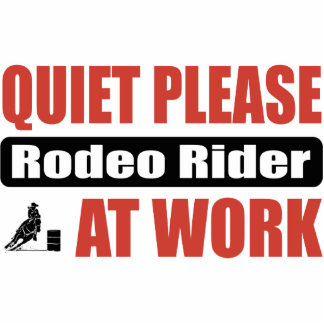 Quiet Please Rodeo Rider At Work Photo Sculpture Ornament