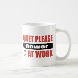 Quiet Please Rower At Work Classic White Coffee Mug