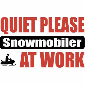 Quiet Please Snowmobiler At Work Photo Cutout