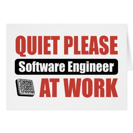 Quiet Please Software Engineer At Work Cards