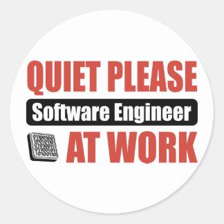 Quiet Please Software Engineer At Work Classic Round Sticker