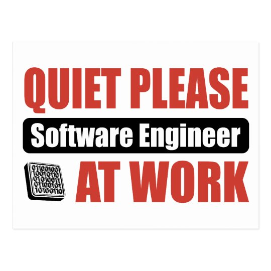 Quiet Please Software Engineer At Work Postcard