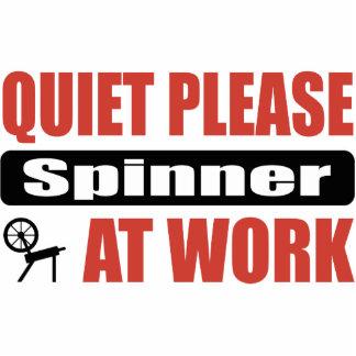 Quiet Please Spinner At Work Photo Sculptures