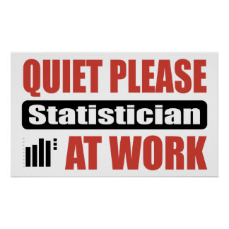 Quiet Please Statistician At Work Poster
