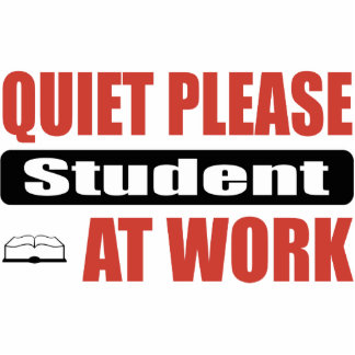 Quiet Please Student At Work Photo Cut Outs