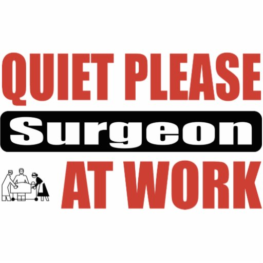 Quiet Please Surgeon At Work Cut Outs