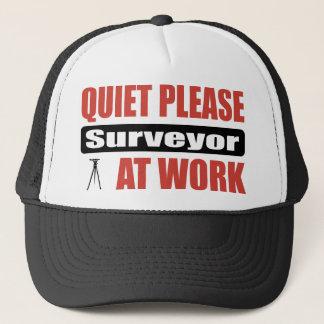 Quiet Please Surveyor At Work Trucker Hat
