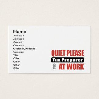 Quiet Please Tax Preparer At Work Business Card