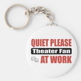 Quiet Please Theater Fan At Work Keychain