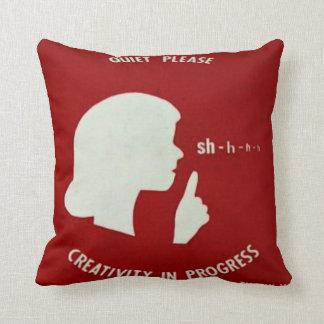 Quiet Please Throw Pillow