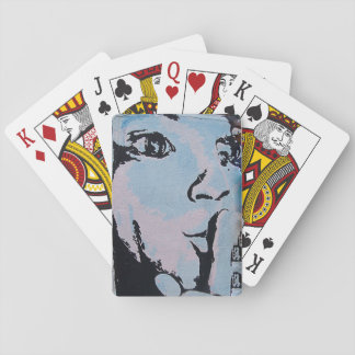 Quiet Poker Face Playing Cards