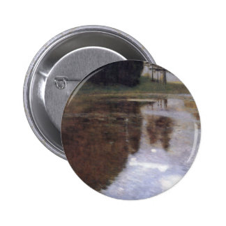 Quiet pond in the park of Appeal Pinback Button