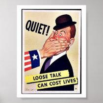 Quiet! Poster