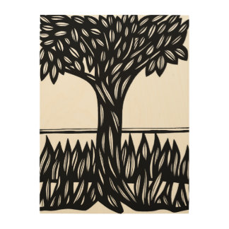 Quiet Protected Knowing Plentiful Wood Print