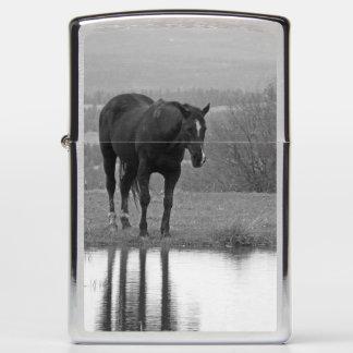 Quiet Reflectionz ~ Horse Zippo Lighter