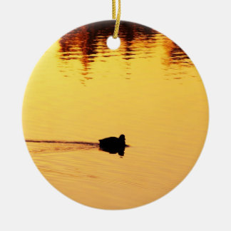 Quiet Ripple Ceramic Ornament
