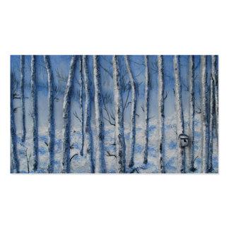 Quiet Snowfall by Fine Artist Alison Galvan Business Card