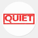 Quiet Stamp Classic Round Sticker