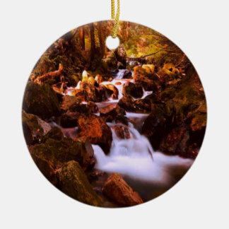 Quiet Stream Ceramic Ornament