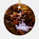 Quiet Stream Double-Sided Ceramic Round Christmas Ornament