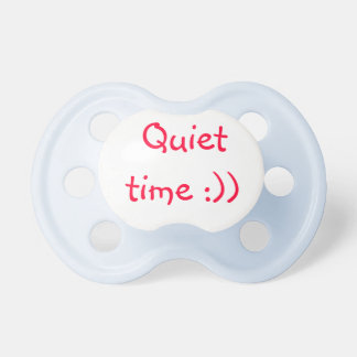 Quiet time baby pacifiers