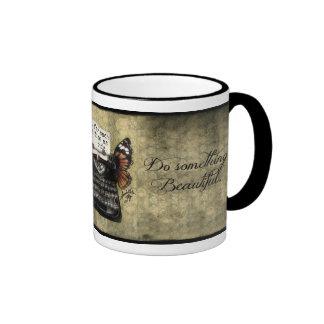 Quiet Time Mugs, Do Something Beautiful Ringer Coffee Mug