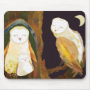 Quiet Time of Cute Owl Family mousepad