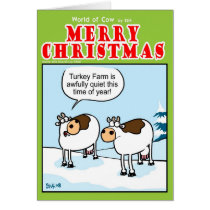 Quiet Turkey Farm at Christmas Card