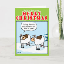 Quiet Turkey Farm at Christmas Holiday Card