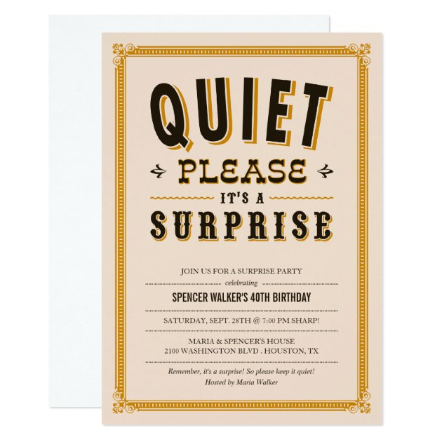 Surprise 30th Birthday Party Invitations & Announcements | Zazzle