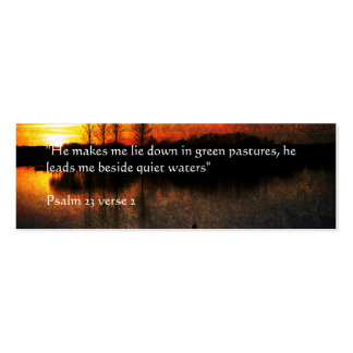 Quiet Waters | Golden sunset at Abberton Mini Business Card