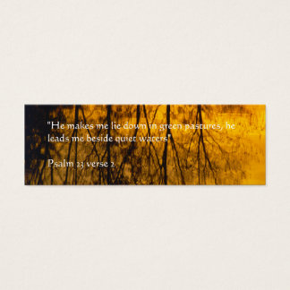 Quiet Waters | Reflection Mini Business Card