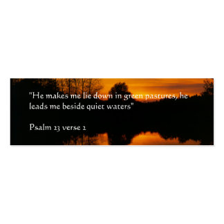 Quiet Waters | Sunset Mini Business Card