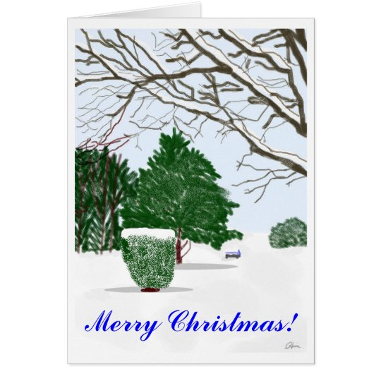 Quiet Winter Day Christmas Card