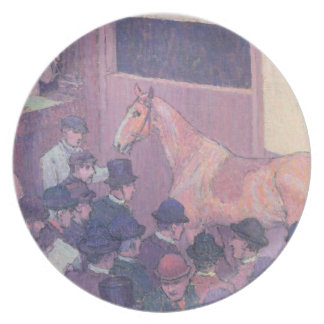 Quiet with all Road Nuisances, c.1912 (oil on canv Melamine Plate