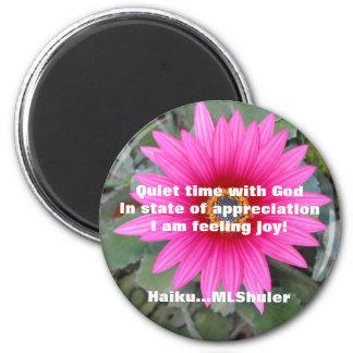 Quiet with God magnet