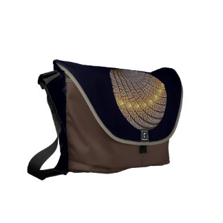 Quiet Wolf Moon Messenger Bag