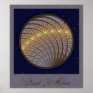 Quiet Wolf Moon Poster