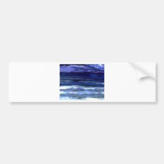 Quiet Wonder Night Ocean Beach Surf Bumper Sticker