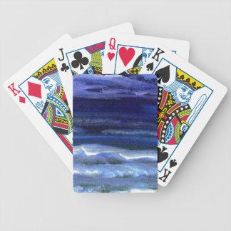 Quiet Wonder Night Ocean Beach Surf Playing Cards
