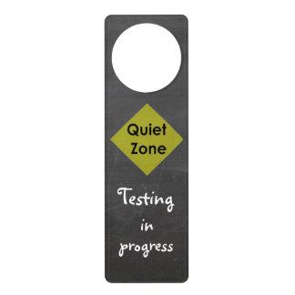 Quiet Zone Door Hanger for Testing
