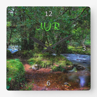 Quietly Flows The River - Dartmoor National Park Square Wall Clock
