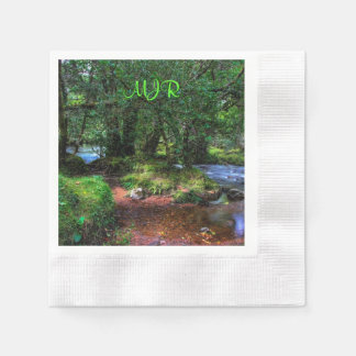 Quietly Flows The River - Dartmoor National Park Paper Napkins
