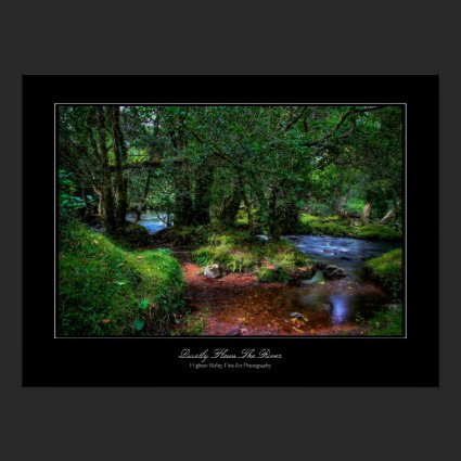 Quietly Flows The River - Serenity and Peace Poster